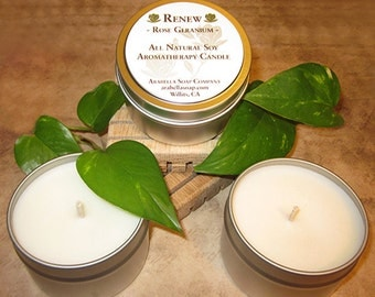 Soy Wax Aromatherapy Candles
