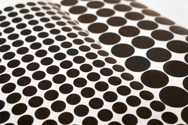 100 black polka dots stickers vinyl home decor polka dot. Black Bedroom Furniture Sets. Home Design Ideas