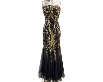 Stunning Sequins Black Dress Prom Dress Evening Dress Bridesmaid Dress Formal Dress DZ003