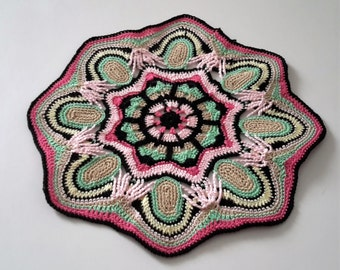 colorful ethnic round doily