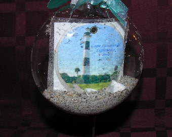 Cape Canaveral Lighthouse Beach Ornament