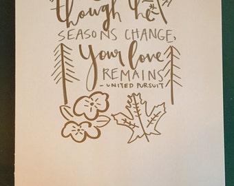 Seasons Change Print
