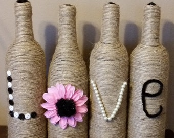 LOVE Wine Decor