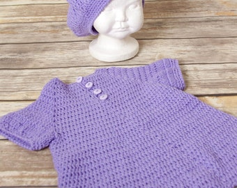 3-6 Months Purple dress set
