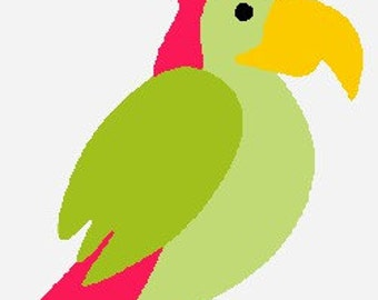 Parrot- A digital embroidery file download