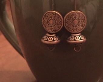 Simple Copper Tribal Earrings