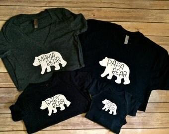 Bear Family T-shirts