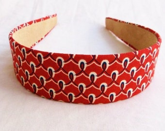 Headband in cotton fabric All Good,hair, accessories, hair bands, headband, women, headbands, clip, bow, bandana, fashion, brick color