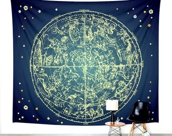 Zodiac Signs. Wall Tapestry. Wall Hanging Tapestry. Star Gazing. Astronomy. Astrology. Wall Decor. Taurus. Gemini. Cancer. Leo. Virgo. TZO02