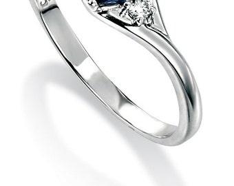 white sapphire engagement ring etsy uk