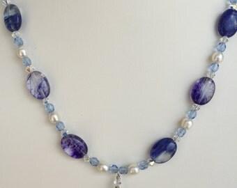 Blueberry Quartz Necklace