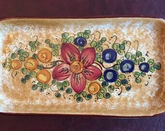 Handpainted Ceramic Tray - San Gimignano - Italy