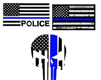 Thin blue line svg, Back the blue svg, Thin blue line flag svg, Support svg, blue lives matter svg, all lives matter svg, police svg, svg