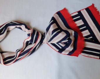 Red, White and Navy! Striped Scarf