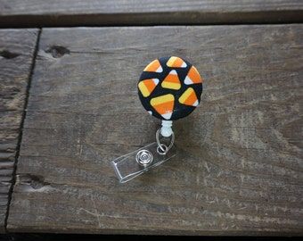 Candy Cones Fabric Badge Reel
