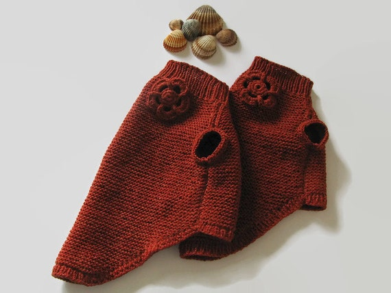 Knitting Patterns For Xxs Dogs : Dog jacket XXS dog sweater Small dog clothes Knit dog sweater