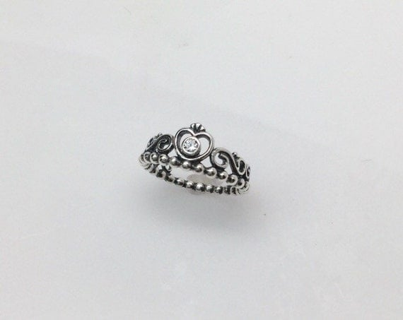 pandora my princess tiara clear cz ring by sparkleofsurprise