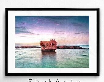Beach Prints, beach photos, beautiful landscape, photo print, Beach photograph, home decor, Landscape art, landscape print. African