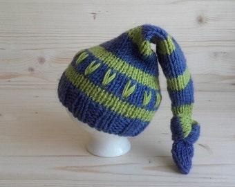 Newborn Hat, Newborn Elf Hat, Newborn Photo Prop, Newborn Boy Hat, Newborn Girl Hat, Knit Baby Hat, Infant Hat, Baby Hat, Newborn Outfit