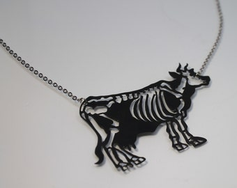 Cow Skeleton necklace