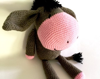 Donkey, MADE TO ORDER, Crochet Donkey, Soft Donkey, Toy Donkey, crochet toy