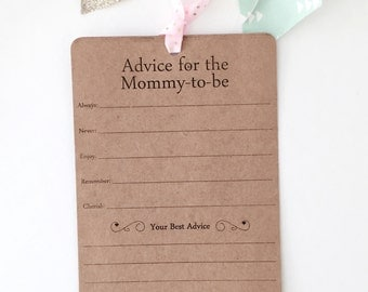 Advice For The Mommy-To-Be Cards