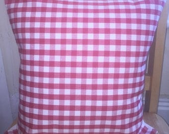 Scarlet/Red gingham cushion cover, Laura Ashley cushion cover,  Laura Ashley pillow cover