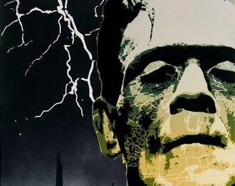 Frankenstein's Monster - Stencil Art Painting