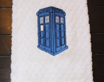 Kitchen Towel with Police Box Tardis Doctor Who