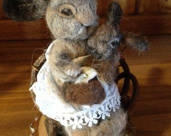 needle felted  bunny, needle felted rabbit
