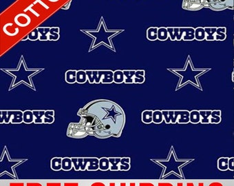 """Dallas Cowboys Cotton Fabric NFL Style DAL-6313 60"""" Wide. Free Shipping"""
