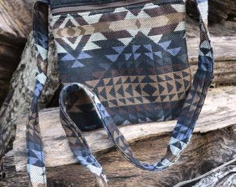 Southwest Cross Body Purse / Hobo Bag / Messenger Bag / Aztec Purse / Brown Purse / Handmade / Gift Idea / Gift For Her