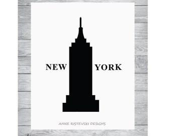 New York Prints, New York Art, Printable New York Art, New York Art Prints, New York Artwork, New York Wall Art, NYC Prints, NYC Artwork