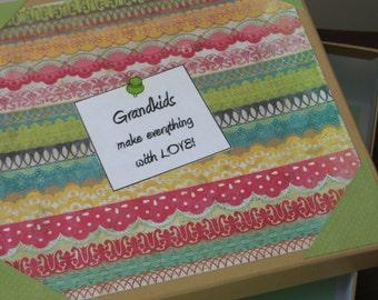 Grandparent Keepsake Box, Grandparent Gift, Storage for Grandparent, Kids Artwork Storage, Personalized Storage Box, Memory Box