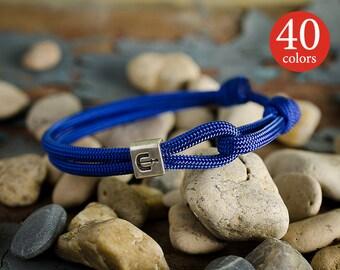 Anchor bracelet men – Designer mens anchor bracelet with silver-plated anchor bead. 40 colors!