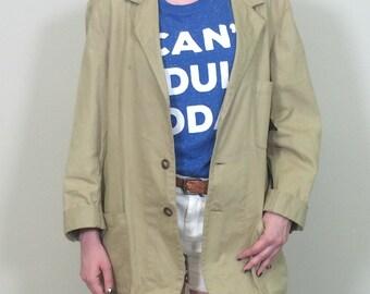 80s Banana Republic Jacket, Vintage Banana Republic, Vintage Jacket, 1980s Jacket, Tan Jacket