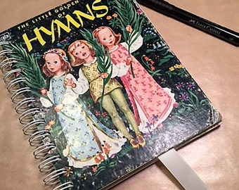 Little Golden Book Hymns Altered Upcycled Notebook Journal