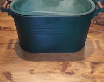 Copper Boiler in Green Paint