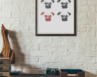 Pug Life  - Poster - Pug Print - Printable - Instant Download - 8.5 X 11