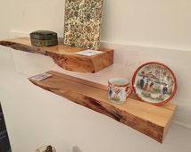 Floating Shelf With Live Edge