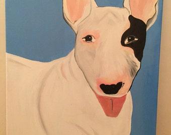 English Bull Terrier Acrylic Painting