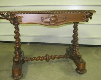 Ornate Antique Hall Table
