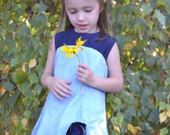 Spring pastel blue dress