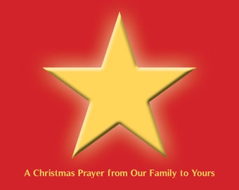 A Christmas Prayer — Sets of 10 Christmas cards with white envelopes