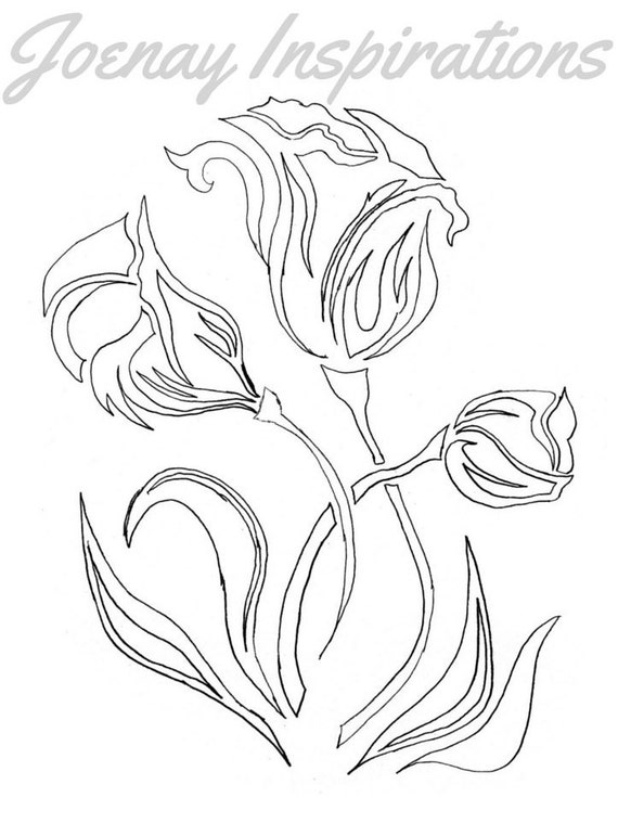 Adult Coloring Book, Printable Coloring Pages, Coloring Pages, Coloring Book for Adults, Instant Download, Fancy Flowers 1 page 9