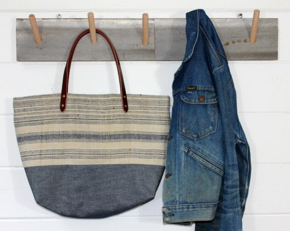 Handwoven Hemp Stripe bag