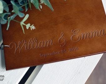 Wedding Guest Book Rustic Wedding Guest book Wood Wedding Guest book Wood Custom Engraved Guest Book Personalized Custom Guest Book