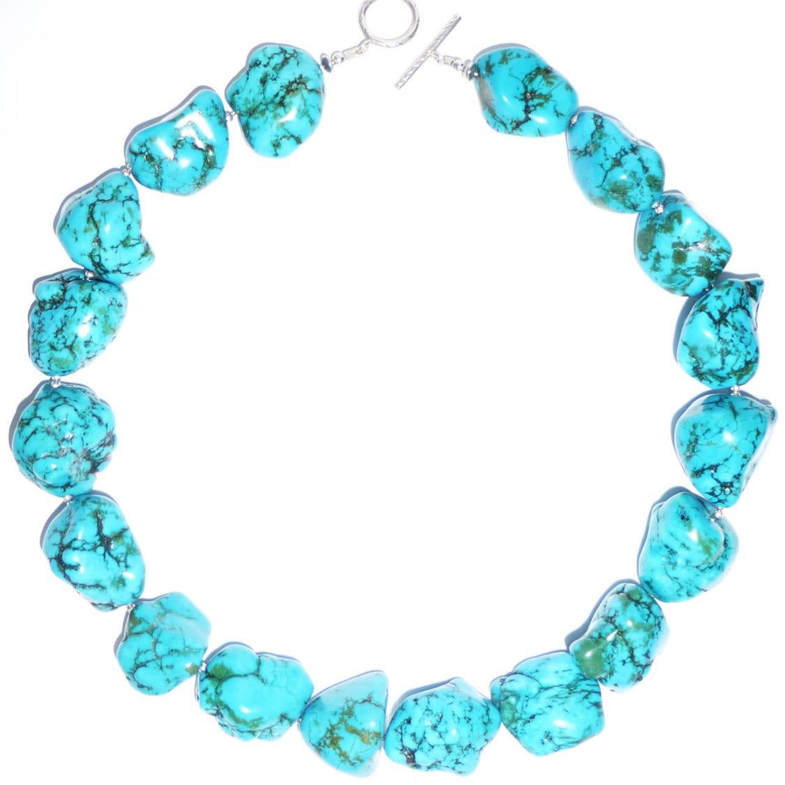 turquoise large chunky necklace