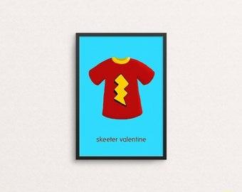 Skeeter Valentine Lightning T Shirt Illustration / Doug Art Print