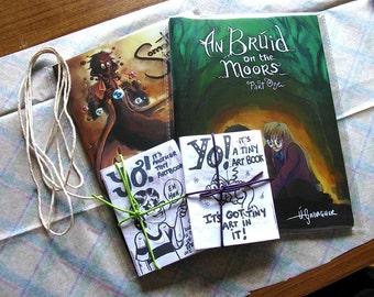 An Bruid on the Moors, Something in the Tae, Yo! It's a Tiny Art Book Indie Irish comics bundle, Irish language comics, all ages comic